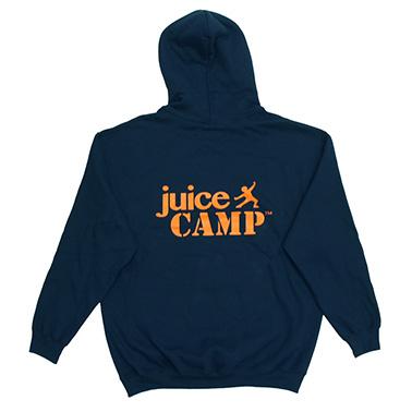 JuiceCamp trui blauw achterkant