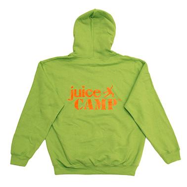 JuiceCamp trui lichtgroen achterkant